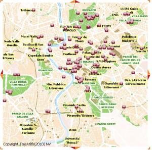 mappa wifi roma