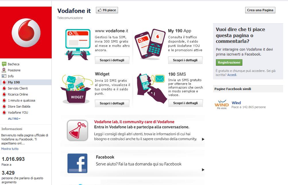 fan page vodafone