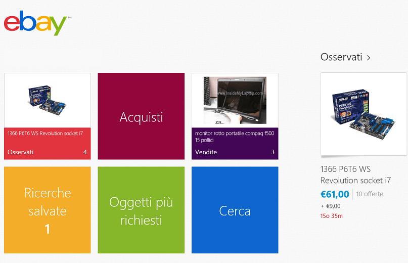 ebay app w8